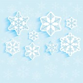 Background of snowflakes  — Stock Vector