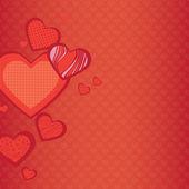 Achtergrond van harten — Stockvector