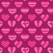 Naadloze textuur met hart — Stockvector