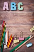 Stationery and paint — Stock Photo