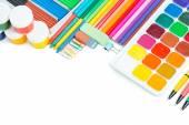Elementy do kreatywności dla dzieci — Zdjęcie stockowe
