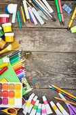 Items for children's creativity — Stock Photo