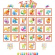 Alphabet with pictures for children — Stock Vector #54535449