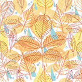 A seamless pattern with autumn leaves — Stock Vector