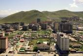 New buildings in the capital city Ulaanbaatar,Mongolia — Stock Photo