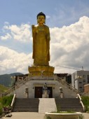 Golden Buddha at Buddha  park in Ullaanbaator,Mongolia — Stock Photo