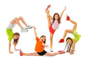 Happy sporty children — Stock Photo
