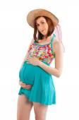 妊娠中の若い女性 — ストック写真