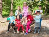 Active children outdoors — Stock Photo