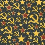 Постер, плакат: Soviet Union signs pattern