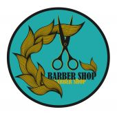 Vintage label for hairdresser and barber with scissors. — Stock Vector