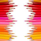 Colour pencils on white background — Stock Photo