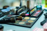 Professional eye shadows palette — Stock Photo