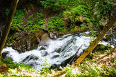 Tranquil bright waterfall — Stock Photo