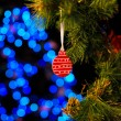 Christmas and New Year Decoration. Abstract Blurred Bokeh Holida — Stock Photo #56559859