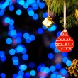 Christmas and New Year Decoration. Abstract Blurred Bokeh Holida — Stockfoto #56559867