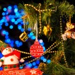 Christmas and New Year Decoration. Abstract Blurred Bokeh Holida — Stock Photo #56559871