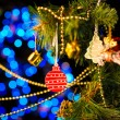 Christmas and New Year Decoration. Abstract Blurred Bokeh Holida — Stock Photo #56559875