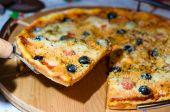 Tasty traditional Pizza — Stock Photo