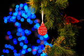 Christmas and New Year Decoration. Abstract Blurred Bokeh Holida — Stock Photo
