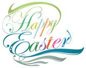 Happy Easter typographic design — Stock Vector
