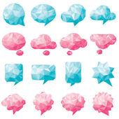Collection of various Speech bubbles set — Stock Vector