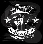 Beach Party, Summer calligraphic designs — 图库矢量图片