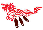 Dragon graphic icon design — Stock Vector