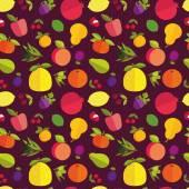 Fruit seamless pattern  — Wektor stockowy
