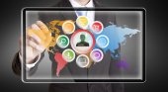 Businessman multimedia concept — Stock Photo