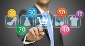 Businessman shopping online — Stock Photo