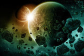 Planet explosion apocalypse — Stock Photo