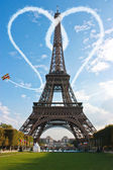 Paris Eiffel Tower love concept — Stock Photo