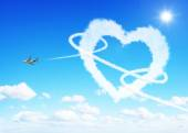Heart clouds valentine's day concept — Stock Photo