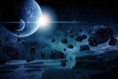 Planet explosion apocalypse — Stock Photo