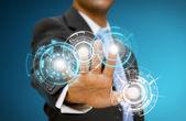 Businessman tech concept — Foto de Stock