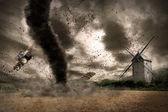 Tornado disaster concept — Stock Photo