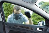 Araba çalmak hırsız — Stok fotoğraf