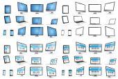 Modern digital tech enhet samling — Stockfoto