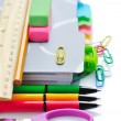 Office and student accessories on a white. Back to school concept — Stock Photo #52403007
