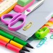 School office supplies on white background — Stock Photo #52403013