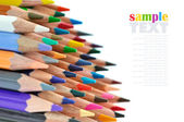 Close-up of colour pencils on white background — Stock Photo
