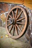 Vecchia ruota di carro — Foto Stock