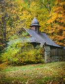 Wooden church. Ukrainian Museum of Life and Architecture. Autumn — Zdjęcie stockowe