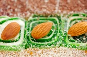 Delicious Turkish sweets with almonds — Photo