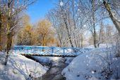 Schöne winterlandschaft — Stockfoto