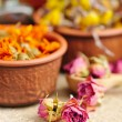 Dried flowers rose, herbal medicine — Stock Photo #65971325