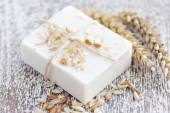 Oatmeal Soap handmade for a Natural Clean — Stock Photo