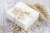 Oatmeal Soap handmade for a Natural Clean — Stockfoto