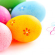 Colorful easter eggs isolated over white background — Stock Photo #68900965